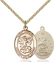 14kt Gold Filled St. Michael the Archangel Pendant 1172-1