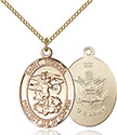 14kt Gold Filled St. Michael the Archangel Pendant 1172-2