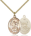 14kt Gold Filled St. Michael the Archangel Pendant 1172-3