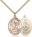 14kt Gold Filled St. Michael the Archangel Pendant 1172-4