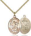 14kt Gold Filled St. Michael the Archangel Pendant 1172-5