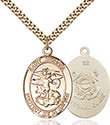 14kt Gold Filled St. Michael the Archangel Pendant 1173-3