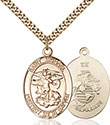 14kt Gold Filled St. Michael Pendant 1173-4