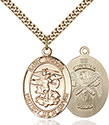 14kt Gold Filled St. Michael the Archangel Pendant 1173-5