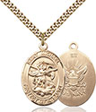 14kt Gold Filled St. Michael the Archangel Pendant 1173-6