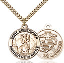 14kt Gold Filled St. Christopher Pendant 1174-4
