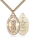 14kt Gold Filled St. Christopher Pendant 1175-2