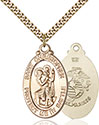 14kt Gold Filled St. Christopher Pendant 1175-4