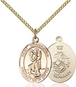 14kt Gold Filled St. Christopher Pendant 1176-4