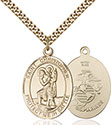 14kt Gold Filled St. Christopher Pendant 1177-4
