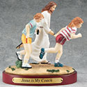 Figurine Track Jesus is My Coach 13982