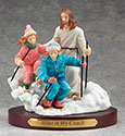 Figurine Skiing Jesus is My Coach 13986