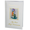 First Communion Remembrance Album, Boy, White Hardcover
