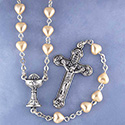 First Communion Rosary Heart 1550