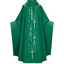 Chasuble Green Embroidered Crosses