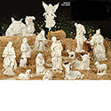 "Nativity 15 Piece Set 27"" White Resin-stone"