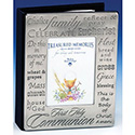 First Communion Pewter Photo Album 23248