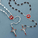 Rosary Confirmation Black Facetted Beads 260/HS/BK/BX
