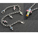 Bracelet & Pendant Set with Crystal Cross 26873