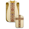 Roman Chasuble Beige Dupion with Regina 299-2749
