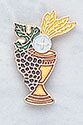 First Communion Wheat & Grapes Lapel Pin