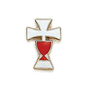 First Communion Chalice and Cross Lapel Pin 32-2864