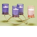 "Advent Candle Holder with Votive Glass 6-3/4"" 32375"