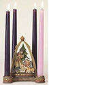 "Advent Candle Holder Nativity Scene 6-1/4"" 34355"