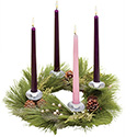"Advent Wreath for Home 12"" 35890"