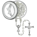 First Communion Cat's Eye Rosary with Box 39 013 02