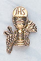 Gold Tone Chalice Lapel Pin 4121