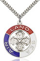 Sterling Silver Land, Sea, Air Pendant 4142