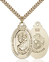 14kt Gold Filled St. Christopher Pendant 4145-4