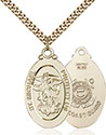 14kt Gold Filled St. Michael Coast Guard Pendant 4145R-3