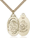 14kt Gold Filled St. Michael Marines Pendant 4145R-4