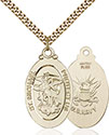 14kt Gold Filled St. Michael Navy Pendant 4145R-6