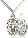 Sterling Silver Scapular Pendant 4145S