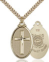14kt Gold Filled Cross Coast Guard Pendant 4145Y-3
