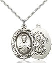 Sterling Silver Scapular Pendant 4146S