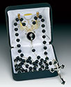 Communion Rosary Black 41821