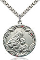 Sterling Silver Blessed Sacrament Pendant 4199