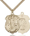 14kt Gold Filled St. Michael the Archangel Pendant 5448-5