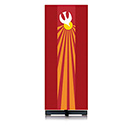 Holy Spirit Dove Lectern Hanging Red Pius 62-5115