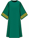 Dalmatic Assisi Green with Sleeve Trim 7-1001