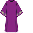 Dalmatic Assisi Purple with Sleeve Trim 7-1001