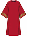 Dalmatic Assisi Red with Sleeve Trim 7-1001