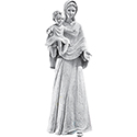 Our Lady of the Smile Marble Fiberglass 700/89