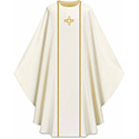 Chasuble Assisi with Braid & Cross White 701031