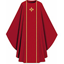 Chasuble Assisi with Braid & Cross Red 701032