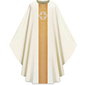 Chasuble Assisi with Woven Band White 701041